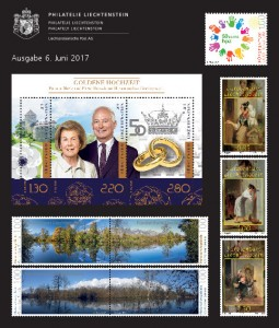 2nd Stamp Issue of 2017 of Philately Liechtenstein on 6 June 2017