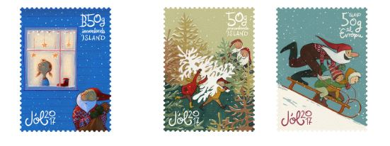 656sett - Christmas stamps - self-adhesive