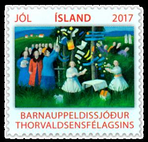 The 2017 Thorvaldsen Society's stamp, designed by Karólína Lárusdóttir