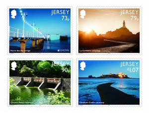 JERSEY BRIDGES & CAUSEWAYS STAMPS MINT SET
