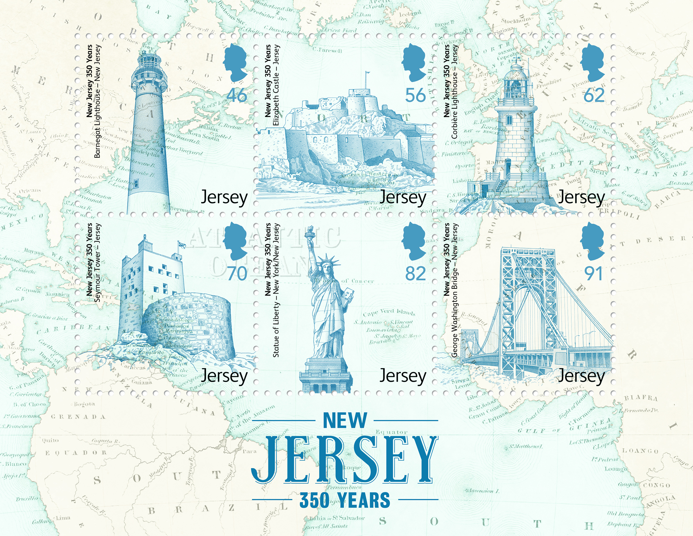 Jersey Stamps Focus On New