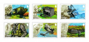 THE GREAT WAR 2 CHANGE STAMPS PERFED MINT SET (2)