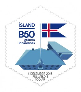 657A - 100 years of Icelandic sovereignty B50g domestic - One of a set of two