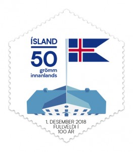 657B - 100 years of Icelandic sovereignty 50g domestic - One of a set of two