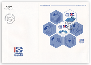 658FDCS - 100 years of Icelandic sovereignty -  First day cover