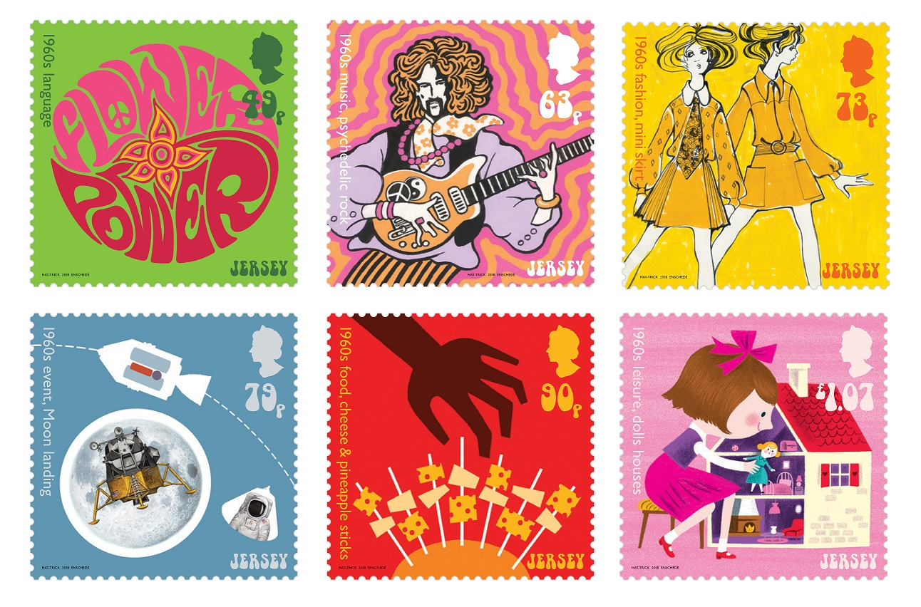 Jersey Post Stamps Look Back To The 60s