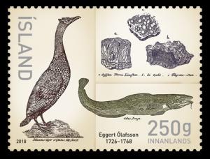 Issue 666A  Eggert Ólafsson 250th anniversary