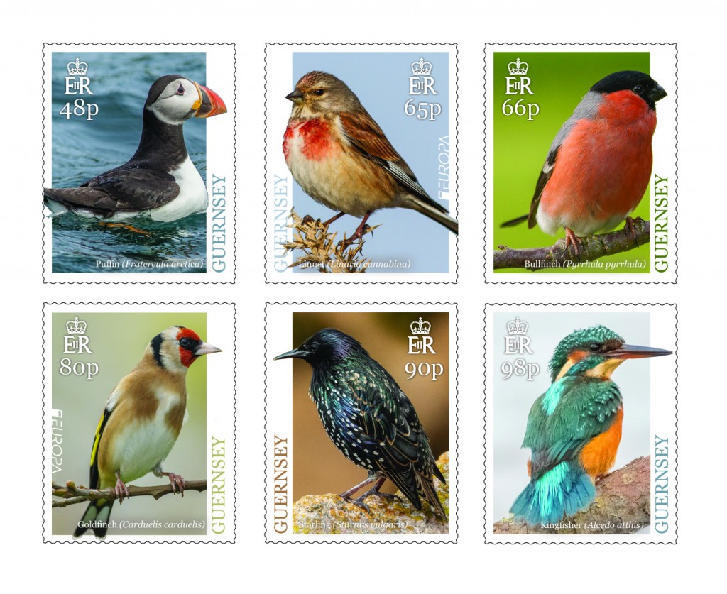 Europa Birds stamps x 6