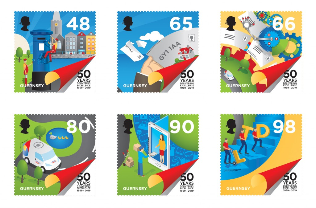 Postal Independence Set of 6