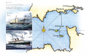 Europa 2020_Ancient Postal Routes_Mail Ships_Souvenir Miniature Sheet