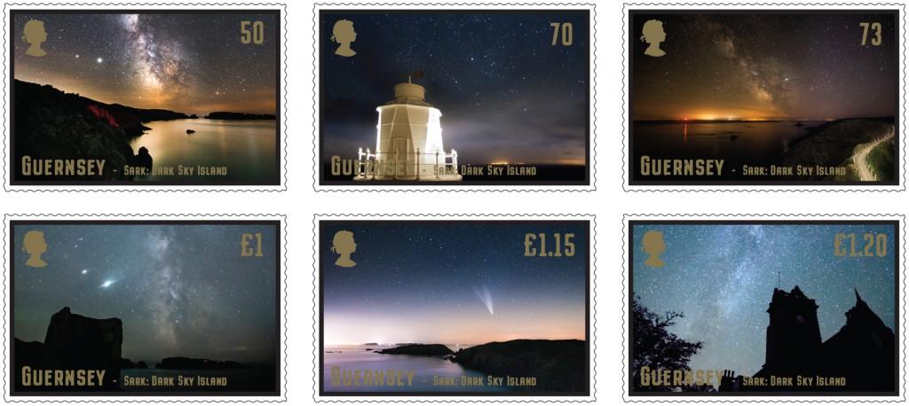 Dark Skies Set of 6 Stamps